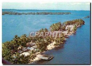 Modern Postcard Republic of Ivory Coast Overview of Langune