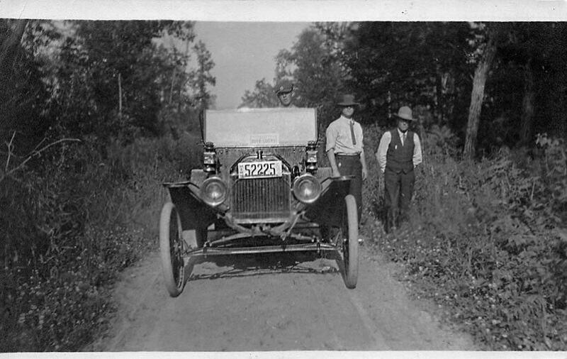 Auto Livery Sign License Plate # 52225 Real Photo Postcard