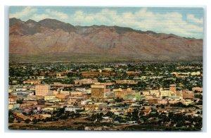 Postcard City of Tucson seen from A Mountain, AZ Arizona L36
