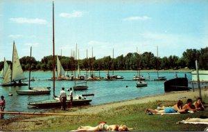 Minnesota Minneapolis Lake Calhoun Beach Scene