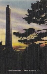 Washington D C Washington Monument At Sunset