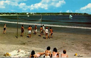 Maine Kennebunk Gooch's Beach Volley Ball Game