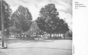 Pawtucket Rhode Island~Wilkenson's Park~Monument~Street Intersection~c1905 PC
