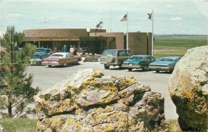 Cheyenne Wyoming~State Travel Information Center~Late 1960s Cars~1977 Postcard