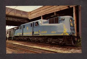 MD Penn Central Railroad Train Baltimore Maryland Postcard Golden Spike