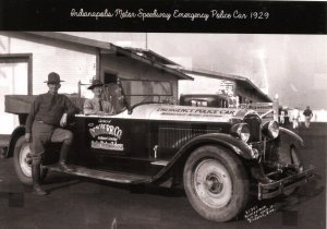 IN - Indianapolis Motor Speedway. Police Car, 1929  (5.75 X 4 Photo Reprint)
