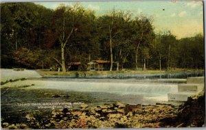 Third Dam, Brandywine Park, Wilmington DE c1910 Vintage Postcard B50