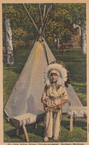 Little Indian Brave, Northern Michigan , 30-40s
