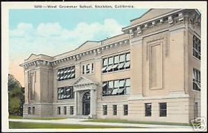 Stockton, California, West Grammar School (1930s)