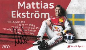 Mattias Ekstrom Audi Motor Racing Hand Signed Photo