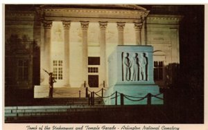 Postcard - Tomb of the Unknowns & Temple Facade, Arlington National Cemetery, VA