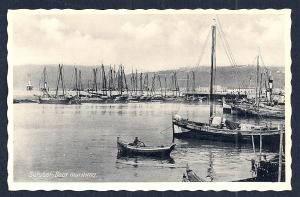 Marine Dock Setubal Portugal RPPC unused c1930's