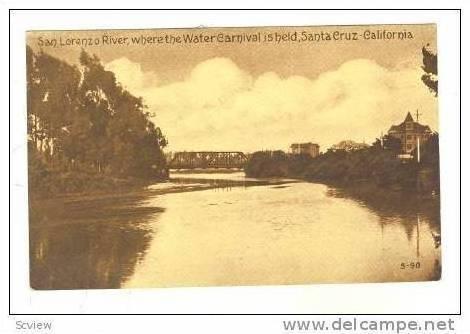 San Lorenzo River, Santa Cruz, California, 00-10s