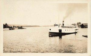 Steamboat Katardin at Moosehead Lake Real Photo Postcard