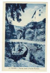RONDA, Malaga, Spain, 1910s   Puente arabe u Puente Romano