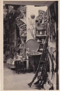 Tetuan Morocco Bazar Stall Lucky Charms Pottery Vintage Real Photo Postcard