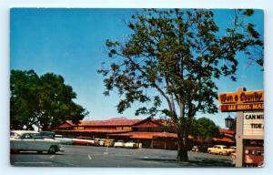 Postcard CA Palo Alto Town and Country Shopping Center 1950's Old Cars J16