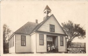 G24/ Bertram Iowa Real Photo RPPC Postcard 1916 Bertram School Studets