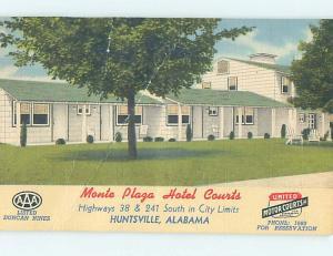 Linen MONTE PLAZA COURT MOTEL Huntsville Alabama AL M6388