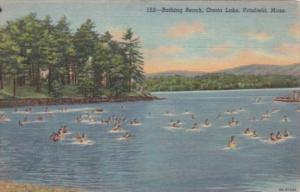 Massachusetts Pittsfield Bathing Beach Onota Lake Curteich