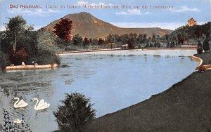 Partie im Kaiser Wilhelm Park mit Blick auf die Landskrone Bad Neuenahr Germa...