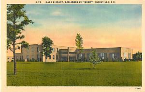 Mack Library Bob Jones University Greenville South Carolina SC Linen