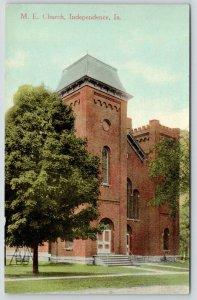 Independence Iowa~Methodist Episcopal ME Church~2nd Empire Architecture~c1910