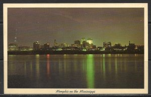 Tennessee, Memphis - City Skyline At Night - [TN-062]