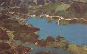Postcard Aerial View of North Park Dam, Sega Prefecture, Japan B46
