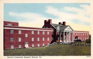 Hospitals Post Card Ephrata Community Hospital Ephrata, Pennsylvania, USA Unused