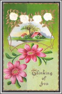Thinking Of You - Flowers - Embossed - [MX-138]