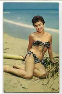 Bathing Beauty Woman Bikini Swimsuit Beach #2 postcard