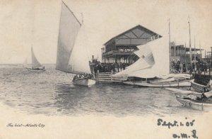 ATLANTIC CITY, New Jersey, 1905; The Inlet, Sailboats
