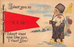 New York City~Snow & Boy ~Patch in Shirt~Don't Vant 1 Like You, I Vant You 1913