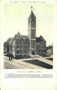 City Hall Lowell MA Writing On Back