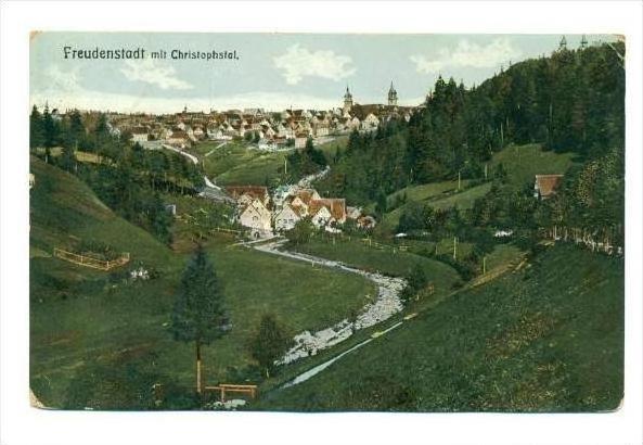 Freudenstadt , Baden-Württemberg in southern Germany., PU-1912