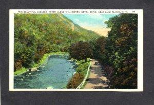 NY Ausable River Wilmington Notch Drive nr Lake Placid New York Postcard