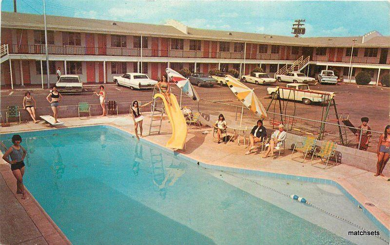 1960 S Holbrook Arizona Motor Hotel Pool Autos Smith Postcard 3708 Route Us66