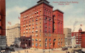 Omaha Nebraska~National Bank Building~1910 Postcard