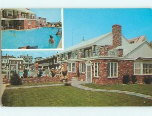 Unused Pre-1980 POOL & STOCKTON MOTEL Cape May New Jersey NJ u5055