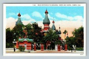 Tampa FL-Florida, Tampa Bay Hotel Grand Entrance, Advertising, Vintage Postcard