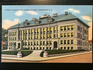 Vintage Postcard>1930-1945>Central Classical High School>Manchester>N.H.