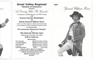 Great Valley Malvern PA Chamber of Commerce Invitation 2003