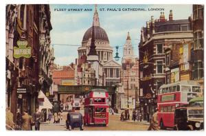 Fleet St & St Paul's Cathedral, London