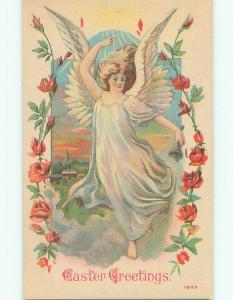 Unused Pre-Linen easter BEAUTIFUL ANGEL RINGING BELL k2087-13