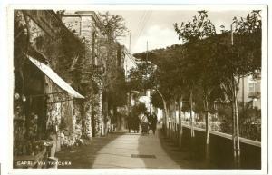 Italy, Capri, Via Tracara, 1934 used real photo Postcard