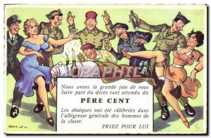Old Postcard Fantasy Humor Army Soldier Father Cent