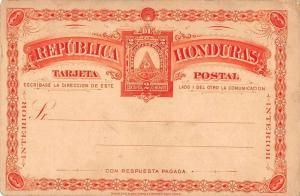 Republica Honduras Red Color 2 Centavos Postal Antique Non-Postcard Back J73870