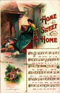 1908 Music Song Embossed Postcard HOME SWEET HOME Chas Rose 1910s Postcard UNP