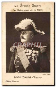Old Postcard The Great War Militaria 1914 winners of the Marne General Franch...